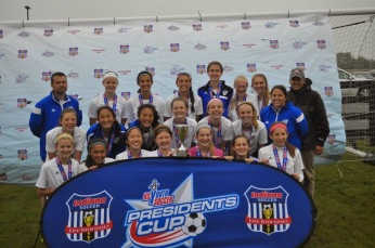 Coach Cecilia Lacerda and the Carmel FC 14G Advanced to the President Cup Finals