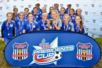 Coach Ray Benton and the U13G Gold Team advanced to the Presidents Cup Regional Finals