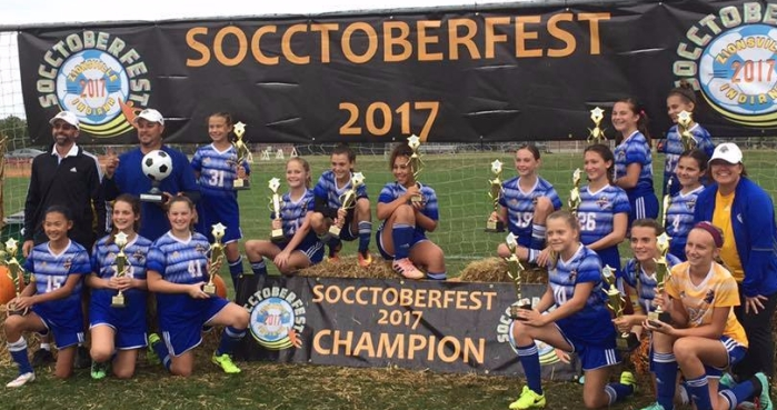 Congrats to Coach Dustin Palmer and his U13 Girls Blue for this  Championship at Socctoberfest 9b9a00f2d